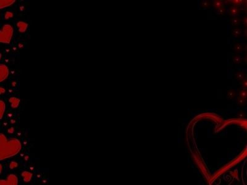 Red Hearts Heart PPT Backgrounds