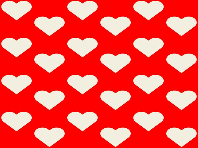Red White Hearts Clipart Backgrounds