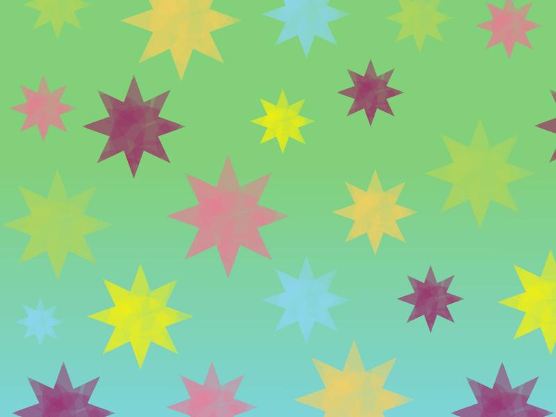 Retro Colorful Stars Backgrounds
