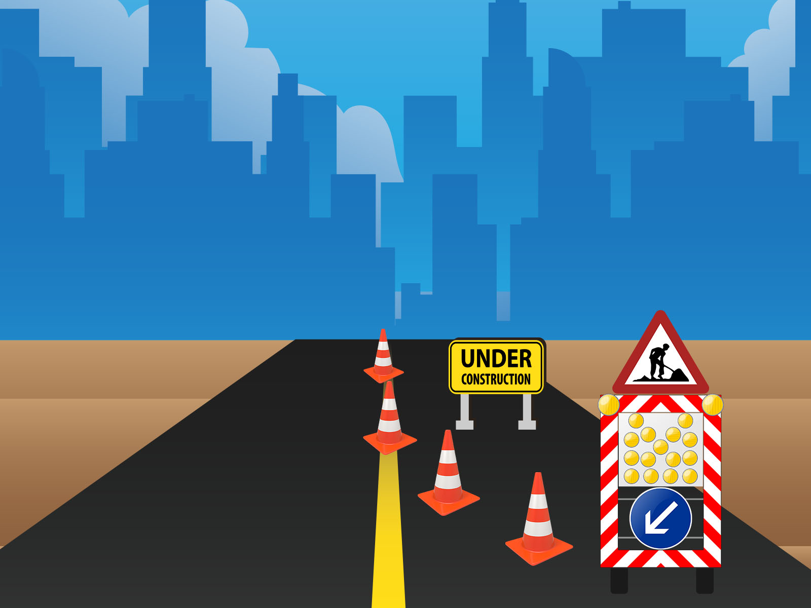 Travel ppt backgrounds download free travel powerpoint templates road constructions backgrounds toneelgroepblik Choice Image