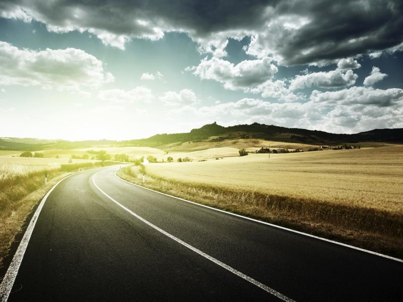 Road Picture Backgrounds For Powerpoint Templates