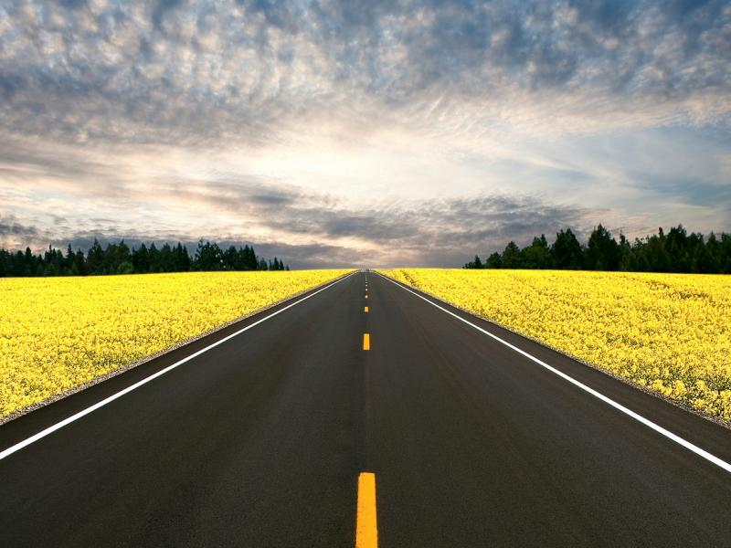 Road Template Backgrounds For Powerpoint Templates Ppt