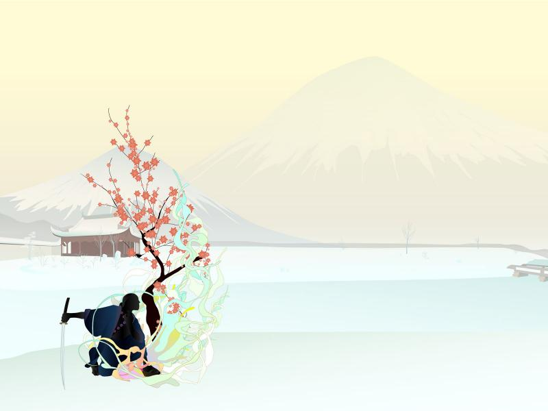 Romantic Japanese Graphic Backgrounds