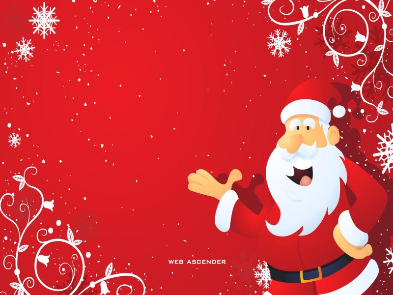 Santa Claus Christmass Design Backgrounds