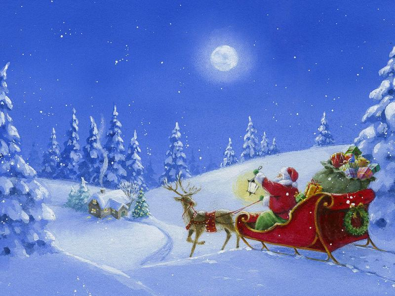Santa Claus Presentation Backgrounds