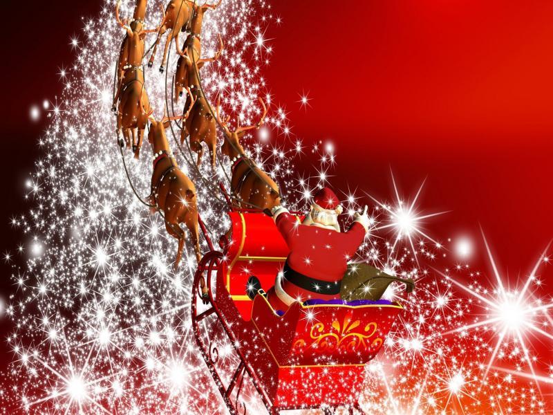 Santa Claus Slides Backgrounds