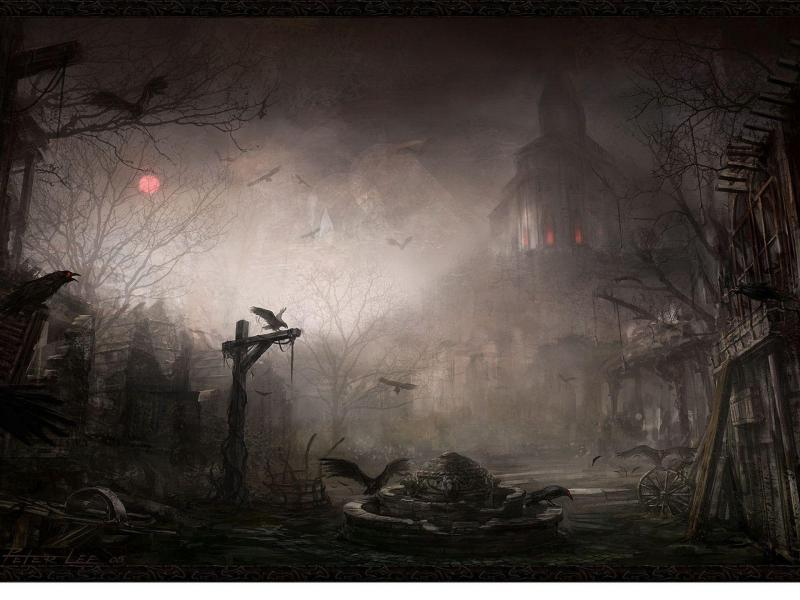 Scary Image Gallery Presentation Backgrounds For Powerpoint
