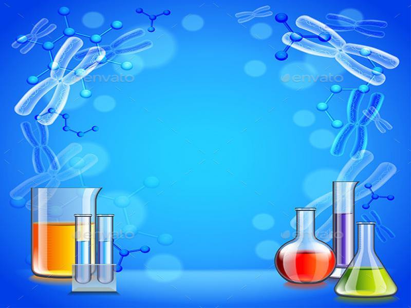 Science With Test Tubes and Flasks  HealthMedicine   Graphic Backgrounds