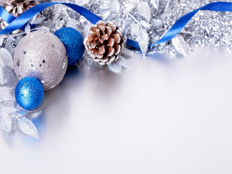 Silver and Blue Christmas Presentation Backgrounds for ...