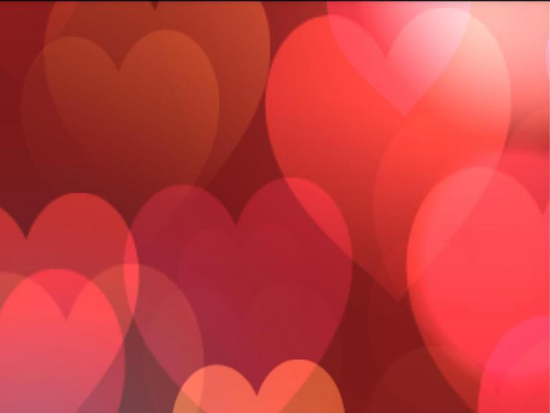 Simple Heart Valentines Backgrounds