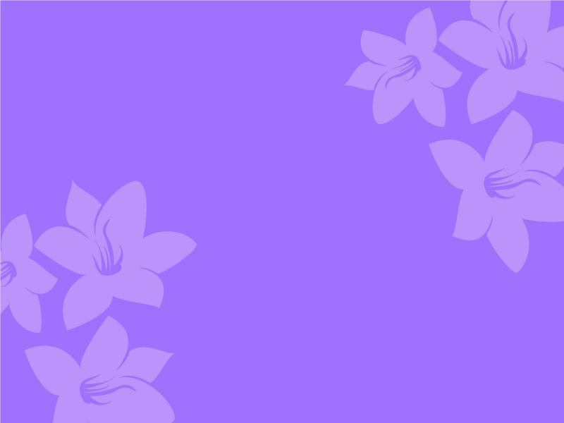 Simple Purple Flower Graphic Backgrounds