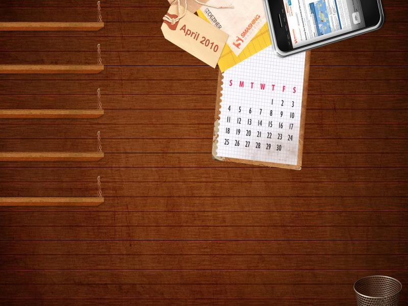 Simple Wood Desk Presentation Backgrounds