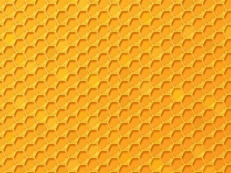 Simple Yellow Honeycomb Texture Template Backgrounds