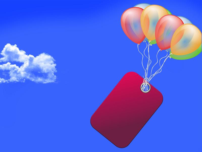 Sky Clouds Balloon Backgrounds