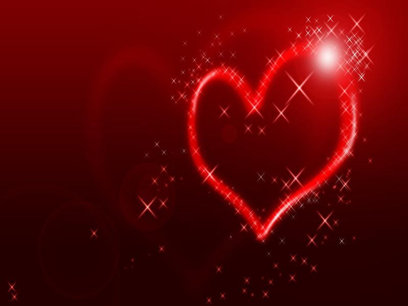 Sparkling Heart  76634 Backgrounds