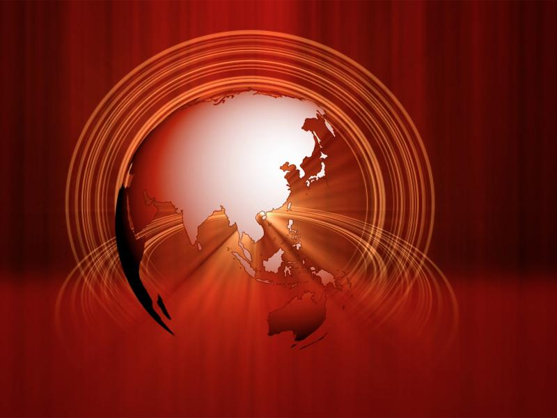 Spinning Earth Space PPT Backgrounds