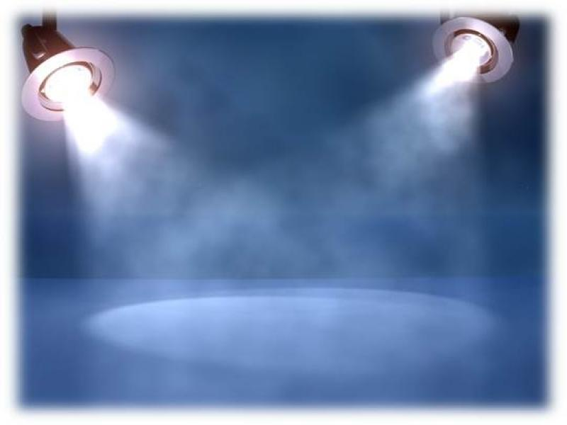 Spotlights Blue Unique Slides Backgrounds