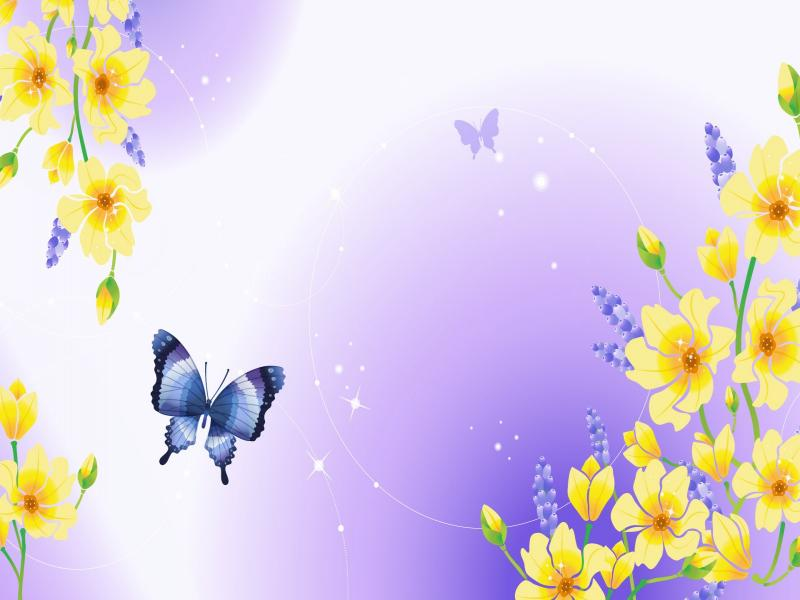 Spring Flowers Clipart Backgrounds