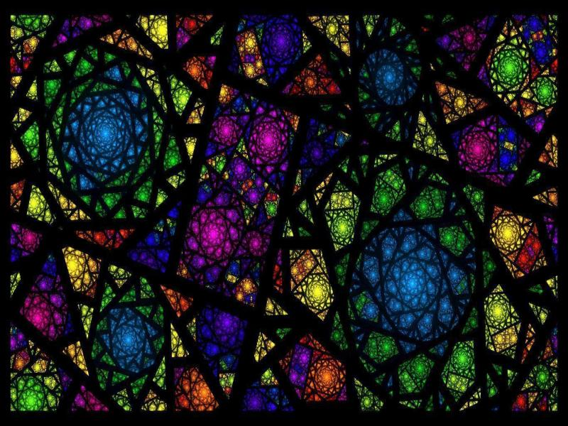 Stained Glass Picture PPT Backgrounds