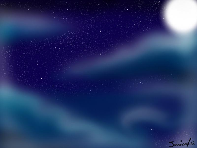 Starry Night Sky Backgrounds