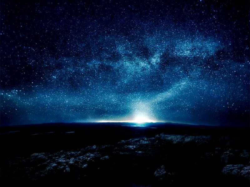 Starry Night Skys Cave Frame Backgrounds