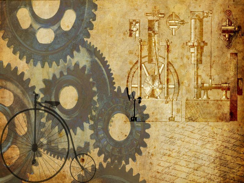 Steampunk Frame Backgrounds