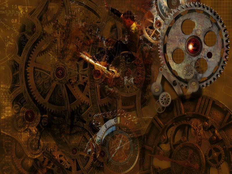 Steampunk Gears Desktop Frame Backgrounds