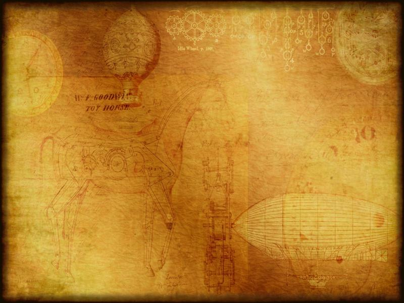 Steampunk Inspiredtexturebackground With Clocks and Gears   Photo Backgrounds
