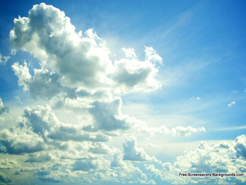 Sunshine Clouds Presentation Backgrounds