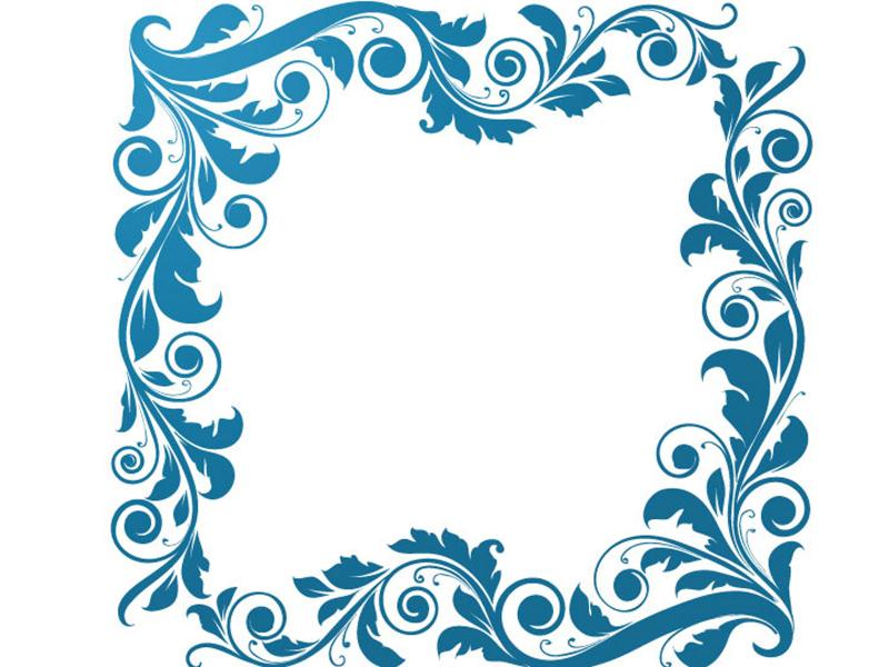 Sweet Floral Frame Backgrounds