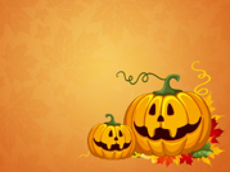 Sweet Halloween Clipart Backgrounds For Powerpoint Templates