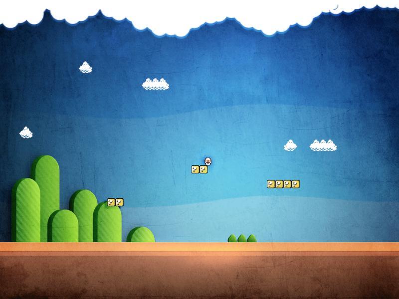 TechCredo  8 Bit Super Mario and Retro Pixelss Backgrounds