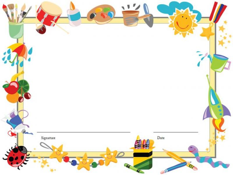 Template For Kids Editable Diploma Certificate Templates For Art