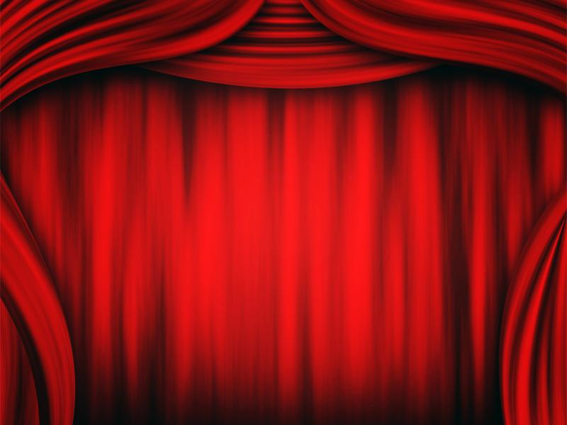 Theater Curtain  PPT Templates Quality Backgrounds