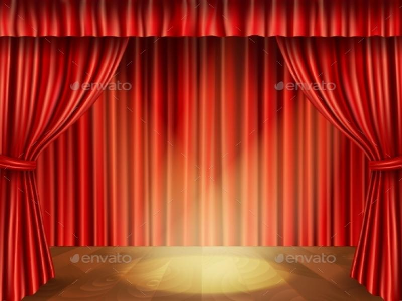 Theater Stage Decorative Presentation Backgrounds