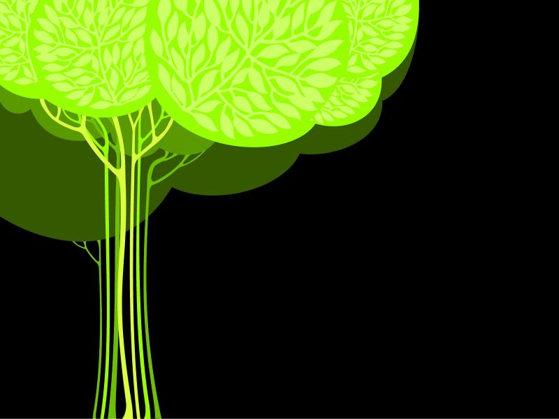 trees abstract black green nature ppt frame backgrounds