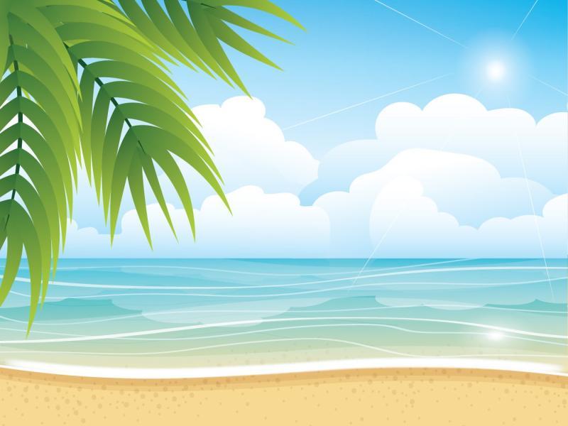 Tropical Summer Beach Art Backgrounds