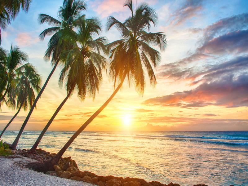 Tropical Sunset Hd Tropical Sunset Hds PPT Backgrounds