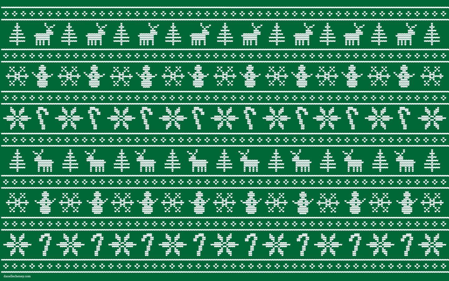 three green chrismas trees christmas sweater zoom background