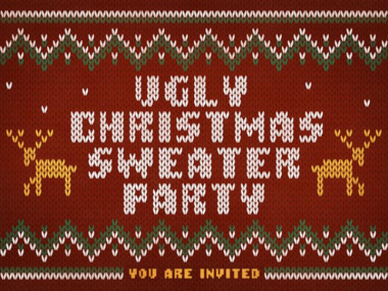 Christmas Sweater Background.Ugly Christmas Sweater Party Graphic Backgrounds For