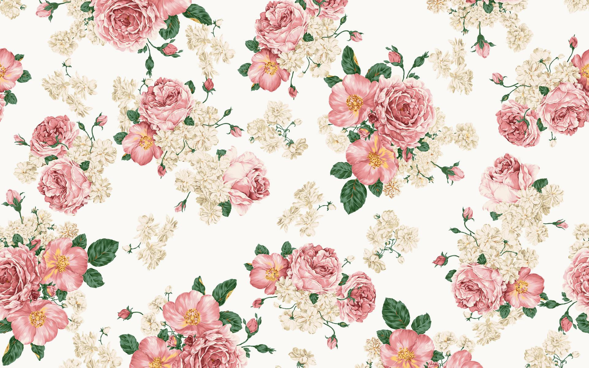 Vintage Flower Patterns Pattern Backgrounds