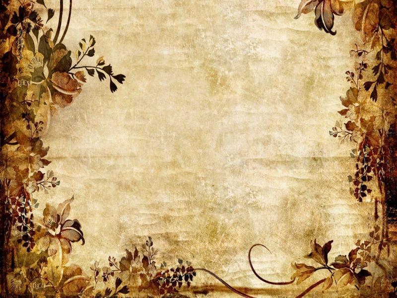 Vintage Frame Flower Backgrounds