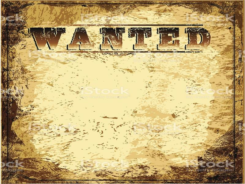 vintage wanted poster slides backgrounds for powerpoint