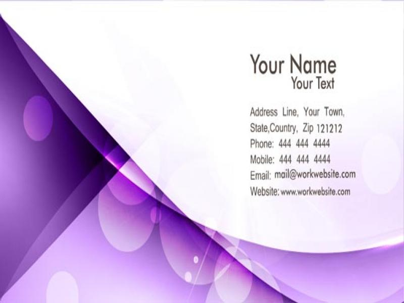 Wallpapers Business Card Purple Clip Art Backgrounds