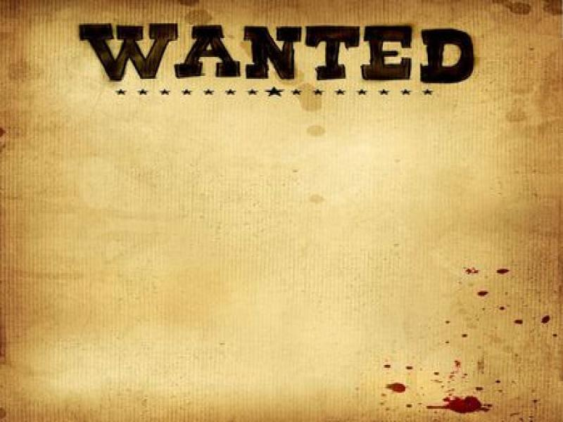 Wanted Poster Abstract Clipart Backgrounds