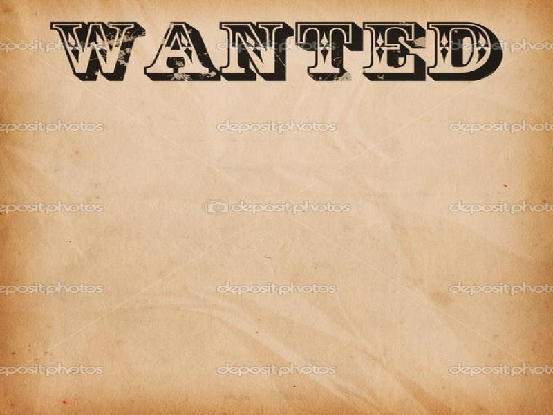 Wanted Text Poster Design Backgrounds