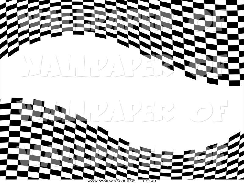 Wavy Checkered Flag Race Start Flag On Ground Racing Flag