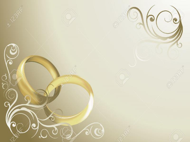 Wedding Invitation Card Backgrounds For Powerpoint Templates Ppt
