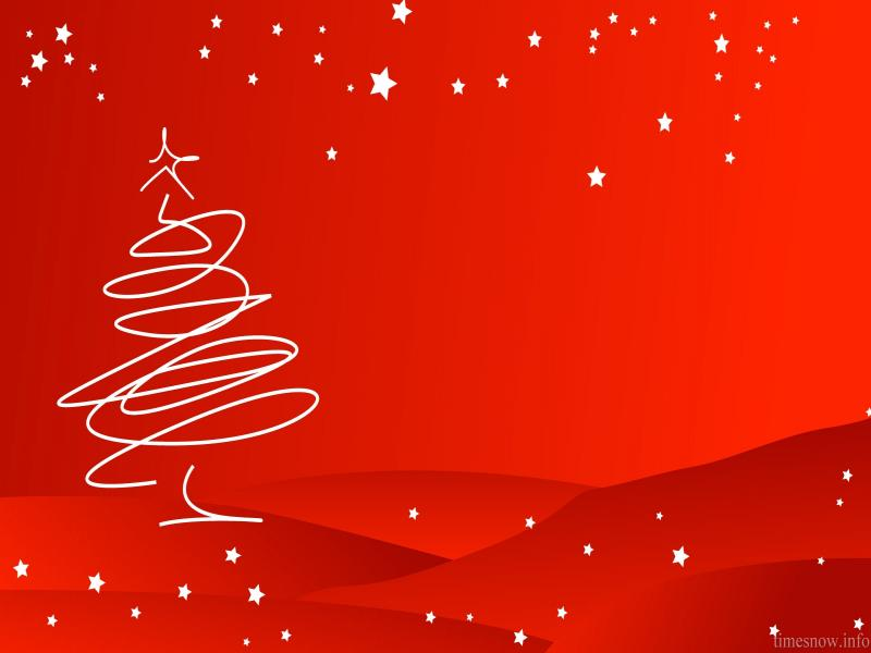 Winter Christmas Tree Holiday Backgrounds For Powerpoint Templates