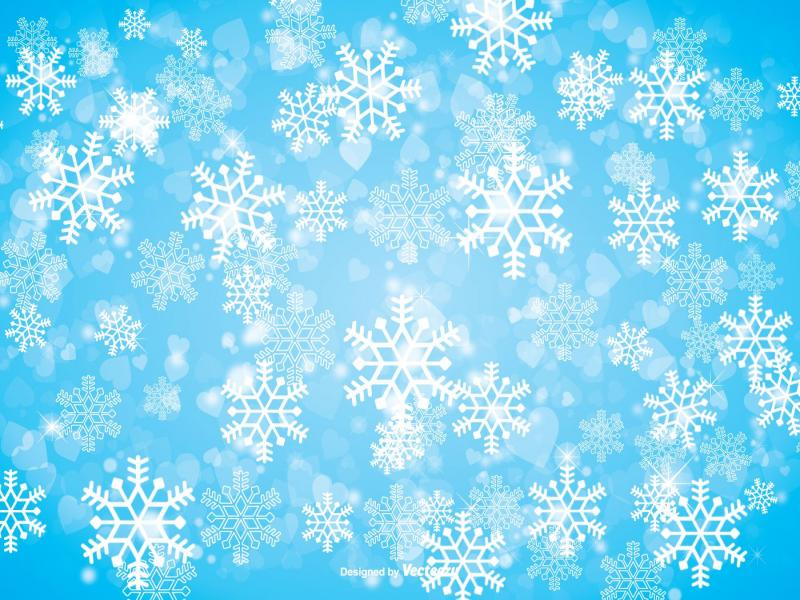 Winter Snowflake Download Backgrounds For Powerpoint Templates Ppt